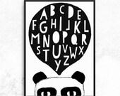 Pandalphabet 50 x 70 Poster