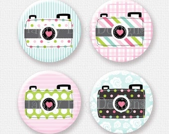 "Camera Magnet Set of 4 -  1-1/4"" 1.25 inch"
