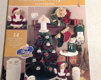 Annie's Attic--One Skein CHRISTMAS Projects--CROCHET--14 Designs To Make--Crochet Pattern Book