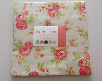 SALE. New Farmhouse layer cake  by Fig tree & co for Moda