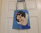 Up cycled Re cycled Tote Bag Disney Snow White