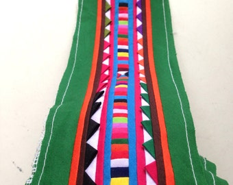 Hmong fabric, Hmong Textile, Lisu Textile, fabric, green, Thai hill tribe, Hmong, Lisu fabric, Sewn Fabric, Crafting, bag, quilt, quilted
