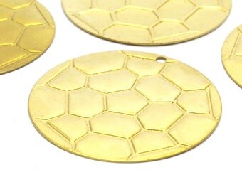 Brass Carapace Charm, 8 Raw Brass Carapace Charms (32 mm) A0279