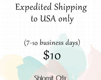 Expedited Shipping to USA only