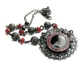 Black Gothic Pendant Necklace