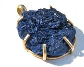 RESERVED LISTING, Tamilyn Banno.  Azurite Crystal, Gold Filled Pendant on GF Neck Ring