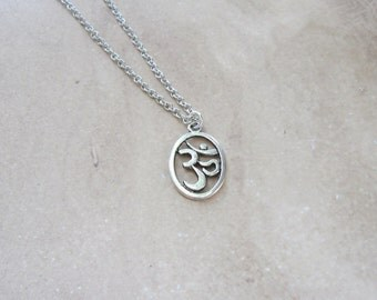 Om Necklace, Gifts for Her, Om Jewelry, Yoga Necklace, Yoga Jewelry, Gift for Yoga Instructor, Meditation, Get Your Yoga On