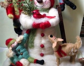 Snow Day Felted Wool Figurine - NEW for 2015