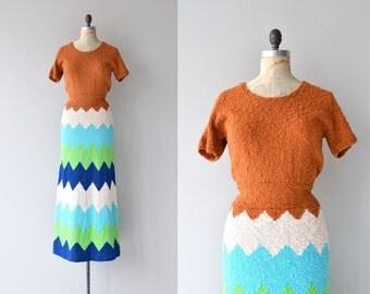 SALE Cult of Petra dress | vintage 30s knit dress | 1930s dress
