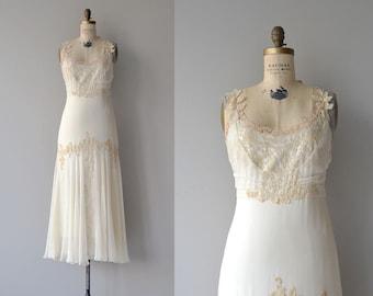 Gossamer Leaf wedding gown   1930s silk and lace wedding dress   vintage 30s wedding dress