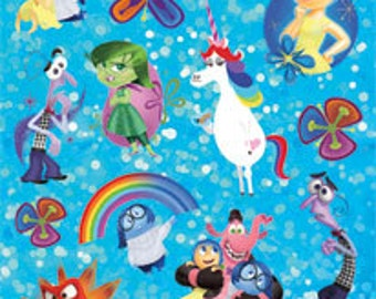 Disney Holographic Inside Out Stickers - 4 sheets