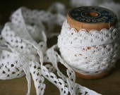 Delicate White LACE - 5 Yards