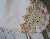 Private Listing for Emily - CHRISTMAS STOCKING, Silk, Lace, Floral