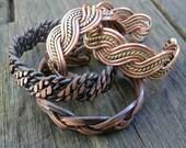 Copper bracelets Custom made any size choose design