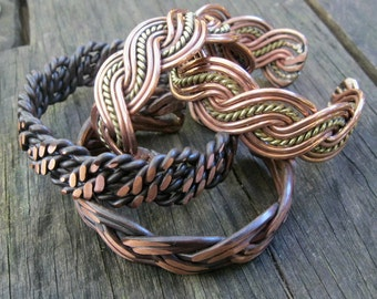 Copper bracelets Custom made any size choose design