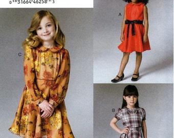 GIRLS DRESS PATTERN / Vogue  / Sizes 3 to 9 / School - Church Clothes