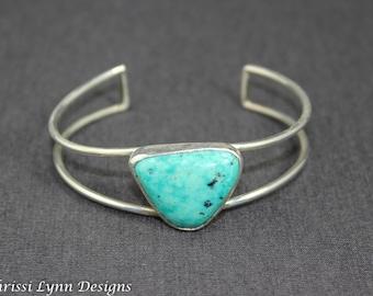 Turquoise Open Cuff Bracelet, Large Cuff Bracelet, Turquoise Jewelry Cuff Bracelet
