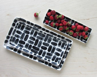 Porcelain Nesting Tray in Brick - Small - Made to Order