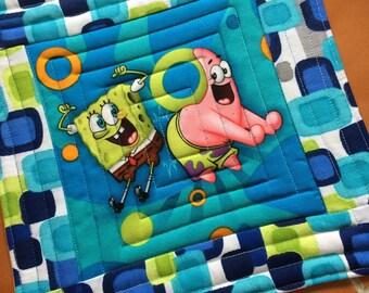 Spongebob and Patrick Mug Rug or Candle Mat  Oversized Coaster
