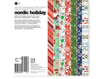 Basic Grey 6x6 Paper Pad - Nordic Holiday Collection