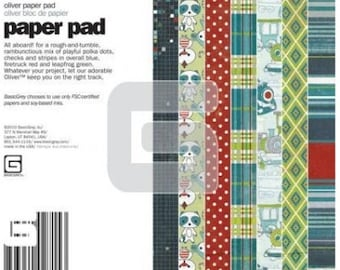 Basci Grey 6x6 Paper Pad - Oliver Collection