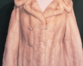 SALE!!!  Vintage Blond Mink Jacket with Rhinestone Buttons Gorgeous!!  B40