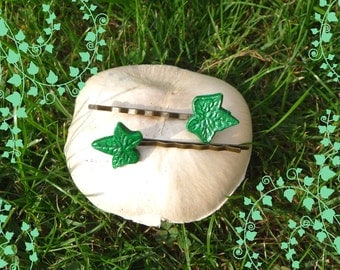 Ivy Leaf Hair Clasp * Hair Pin * Set of 2 SMALL * Magical Hair Ornaments for the Fairy inside you