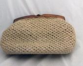 Judy - 1950s sisal clutch