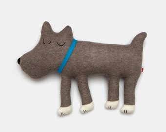 Large Hugo the Dog Lambswool Plush - Made to order