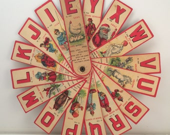 1907 Sliced Animal Spelling Fan Book