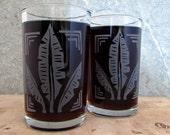 Banana Leaf Print Etched Glassware (Large) -Tumblers  -Old Fashioned -Can Glasses -Mason Mugs -Ceramic Mugs -Pints Sandblasted Austin Texas