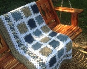Tidewater Granny Square Afghan FREE SHIPPING