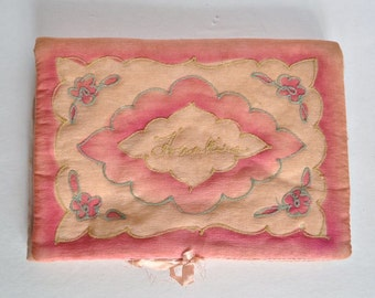 Antique Silk Hanky Pouch - Hankie Holder