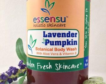 Lavender Pumpkin Aloe Botanical Nourishing Body Wash Backbar Size | Vegan | Suitable for Sensitive Skin | Bulk Size | No Sulfates - 16 oz