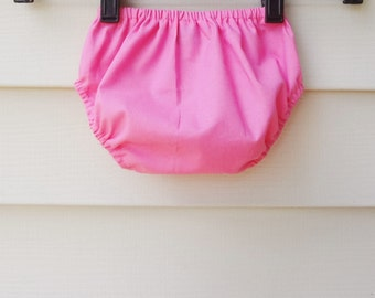 Bloomers READY TO SHIP  6-12 months Pink Cotton Diaper Cover