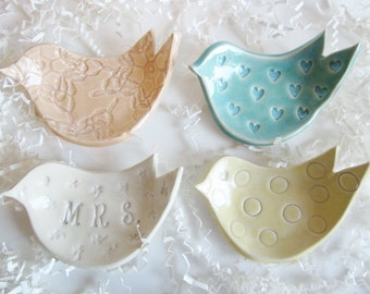 4 Ring holder, spoon rest, soap dish, Candle holder, jewelry storage, Ceramic pottery