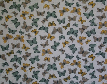 1.5 Yards Green and Yellow Butterflies