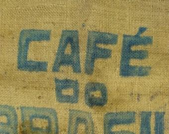 Vintage Burlap Bag Feed Sack Cafe