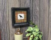 Miniature CROW Primitive Cloth Dollhouse Picture
