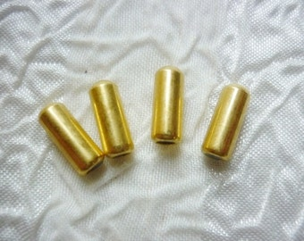 4 Hat Pin Clutch Ends, Gold Bullet end for Stick pins