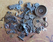 Vintage WATCH PARTS gears - Steampunk parts - g71 Listing is for all the watch parts seen in photos