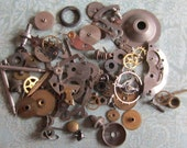 Vintage WATCH PARTS gears - Steampunk parts - e83 Listing is for all the watch parts seen in photos