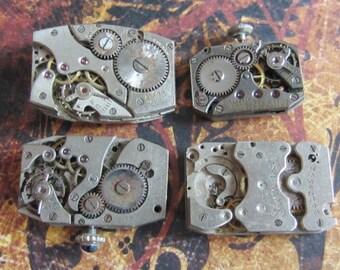 Steampunk supplies - Watch movements - Vintage Antique Watch movements Steampunk - Scrapbook j94