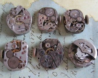 Steampunk watch parts - Vintage Antique Watch movements Steampunk - Scrapbooking s84