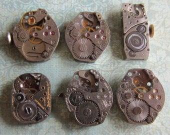 Steampunk watch parts - Vintage Antique Watch movements Steampunk - Scrapbooking v88