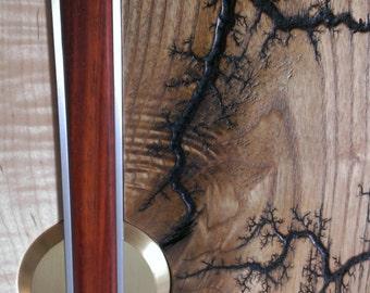 High Voltage 5  w/Lichtenberg Patterns-  Live Edge Figured Maple and Ash Wall Art
