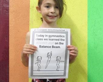 gymnastics coloring sheets handouts all ten 10 sets for teachers gymnastics