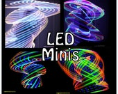 "LED 'Mini Twins' Set -  3/4"" Polypro.  6 Available Color Schemes - Made in any size 18"" - 26"""