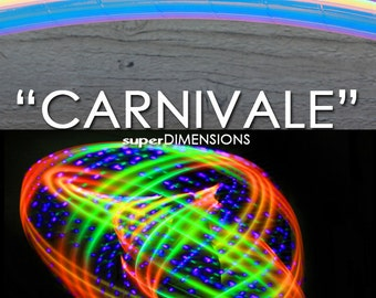 """LED Hoop - 'CARNIVALE'  - 3/4"""" or 5/8"""" OD Polypro. Made in any size 26"""" - 36"""".  Free 3M Grip Option!"""