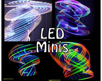"""LED 'Mini Twins' Set -  3/4"""" or 5/8"""" Polypro.  6 Available Color Schemes - Made in any size 18"""" - 26"""""""